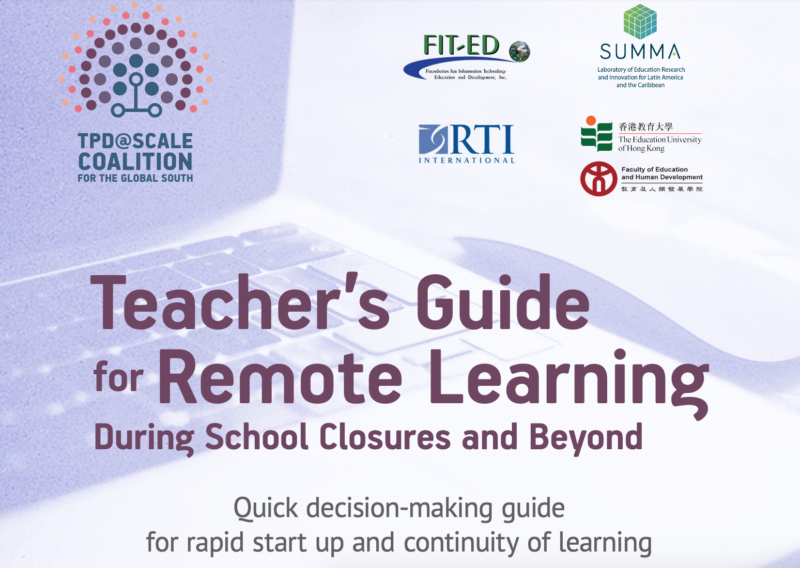 Teacher's Guide for Remote Learning