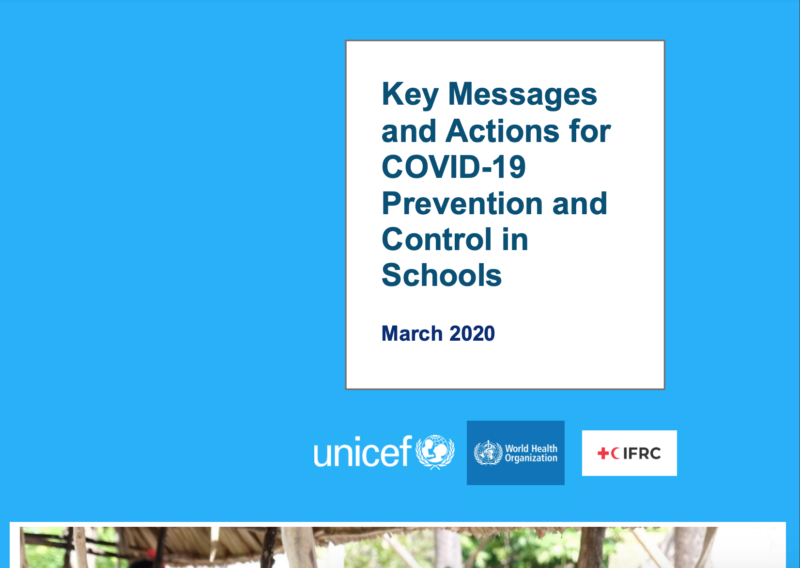 Key Messages and Actions for COVID-19 Prevention and Control in Schools